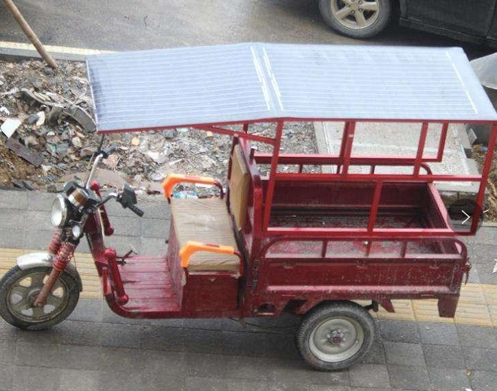 using ultralight solar panel eGo S